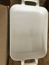 Revol French White  Porcelain 13.5 x 9.75 Rectanglar Roasting Dish