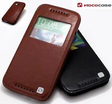 SLIM! Genuine PU Leather Flip Case Wallet Cover for HTC One M8 2014 Model