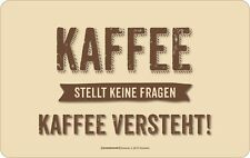 Frühstücksbrett aus Resopal mit lustigem Spruch Kaffee Gr.23,5x14,5 cm 7377