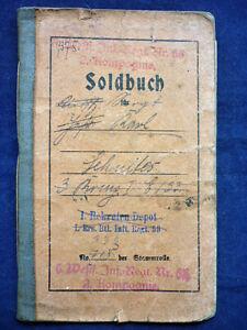 Soldbuch 1. Infanterie reg. 53, 1914 -1918 (Art.4689)