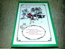 12 Christmas Cards by Regent Etchings Winter Snow Boxed Set 5 Designs Vintage