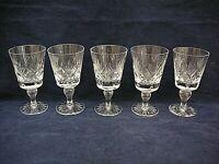 Superb vintage set of 5 x crystal  Wine glasses