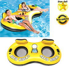 Inflatable Float 2 Person Floating Raft River Lake Pool Party Tube Water Fun