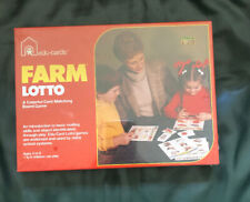 "VTG ""FARM LOTTO"" Edu-Cards Game Learning Toy 1970 NOS Sealed"