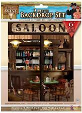 6FT way out west saloon fond set cowboy fête western party décoration 76052