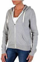 Abbot Main Womens Full Zip Fleece Hoodie Jacket (Heather Grey, Small)