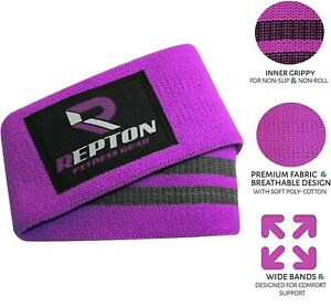 REPTON ROYAL PURPLE extra strength grippy HIP CIRCLE, Booty Bands Squat