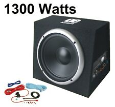 "Active 12"" Subwoofer Bass Box 1300 W car audio sub woofer amplificatore integrato"