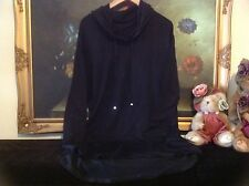 NWT LAUREN RALPH LAUREN WOMEN Jersey Hooded Lounger Black  M