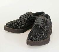 New BRUNELLO CUCINELLI Black Swarovski Crystal Oxford Shoes Size 38.5/8.5 $2640