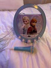 Disney Frozen Elsa & Anna Cd Player Karaoke Machine W/mic and Cd