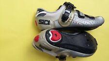 SiDi Genius 5 Pro Carbon 42.5 EU/ US- 8.5 9 silver 3-bolt spin peloton road shoe