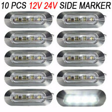10X 4 SMD White LED Side Clearance Marker Light Truck Tail Car Boat Trailer Lamp