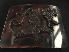 Belt Buckle Silver Dragon