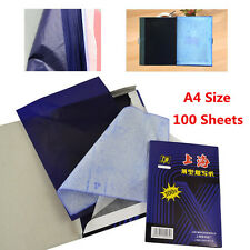 100 Sheets A4 Dark Blue Carbon Hand Copier Stencil Transfer Paper Hectograph