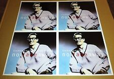 BUDDY HOLLY 1996 PROMO POSTER for Not Fade away CD Never Displayed DOUBLE SIDED