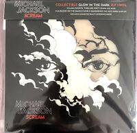 Michael Jackson 2xLP Scream - Translucent Blue Vinyl  - Europe (VG+/M)