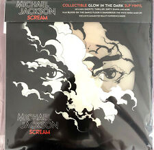 Michael Jackson 2xLP Scream - Translucent Blue Vinyl  - Europe (VG+/M)