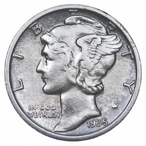 Razor Sharp 1935-S Mercury Liberty Dime 90% Silver Stunning in High Grade *691