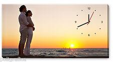FotoQuadro Canvas Orologio cm50x100 con tua Foto -Regalo Compleanno Anniversario