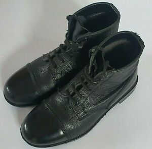 Grafters Unisex Sea Cadet DMS Leather Ankle Training/Parade Boot - UK 5