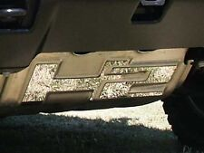 HV43011 HUMMER H2 LETTERS INSERTS ONLY STAINLESS STEEL FOR BRUSH PLATE 2PC