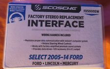 Scosche FD5000 Ford Factory Stereo Replacement Interface Harness