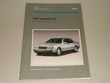 Manual de Taller Entrada Mercedes-Benz Coche Tipo Serie W 210 Clase E, 1995