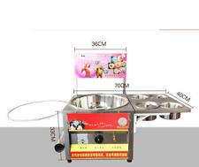 Upgrade Fancy art cotton candy machine stainless steel gas cotton candy machine