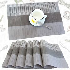 New listing profurni Placemats for Dining Table Placmats Set of 6 Washable Woven Placemat.
