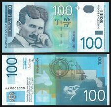 Serbia 100 DINARA N.Tesla 2003 P 41 UNC Series AA