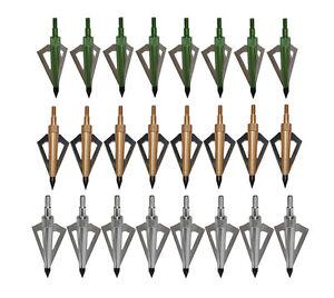 18X 3 Blade Archery Hunting 125Gr Broadheads Recurve/Compound Arrow Random color
