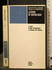 Lessons of Sociology. Max Horkheimer, Theodor W. Adorno. Einaudi.