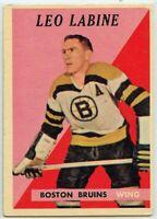1958-59 Topps Hockey #4 Leo Labine VG-EX Condition (2020-13)