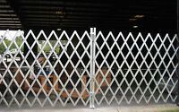 Folding Gate Scissor Gate - Double fixed folding security Gate 12' x 6'