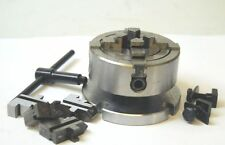 "70 MM 4 Jaw Independent Chuck on Backplate for 3 & 4"" Rotary Tables"