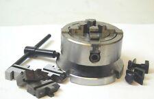 70 mm mandrin 4 mors indépendants sur plaque pour 3 & 10.2cm rotatif Tables