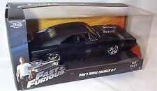 FAST & FURIOUS Doms Dodge Charger R/T Matt Black 1/24 SCALE OPENING FEATURES