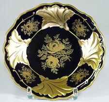 WEIMAR - Teller PRUNKTELLER Zierteller - JUTTA - Kobaltblau Goldene Blume - 24cm