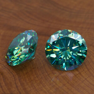 RG-93 Loose Moissanite diamond Round cut Greenish Blue 1.02 Ct