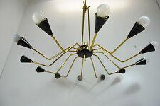 Lampadario anni 60'attr.Stilnovo Leuchter Chandelier Kronleuhter Mid-Century