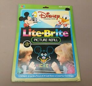 Lite Bright Disney Characters 12 Piece Character Sheets 24 Guide Sheets UNUSED A