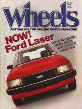 Wheels Apr 81 RX7 Gemini Diesel Audi 80E Charade Laser Fiat Ritmo Suzuki Hatch