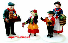 Dept. 56 The Toy Peddler Set of 3 Retired 1998 Alpine Village 56162 New