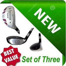 SENIOR Made Hybrids Set of 3 Taylor Fit #7 #8 #9 Graphite Rescue NEW Iron Woods