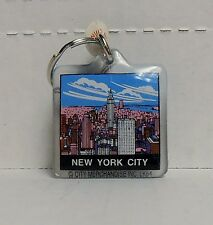 New York, City Overview, Square Plastic Keychain by City Merchandise, BRAND NEW