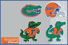 FLORIDA GATORS VINYL DECALS 4 PACK #1 UF Car Truck iPhone Stickers Albert Helmet