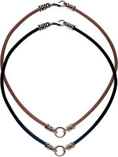 BICO Australia's LEATHER CHOKER CHAIN (22') in black