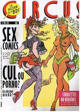 CIRCUS N° 102 SEX COMICS STARLETTES OU HEROÏNES OCTOBRE 1986 TRES BON ETAT