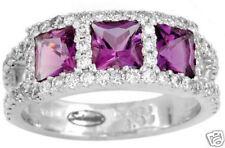 2.14ctw Designer Diamond & Amethyst Ring 18K Gold